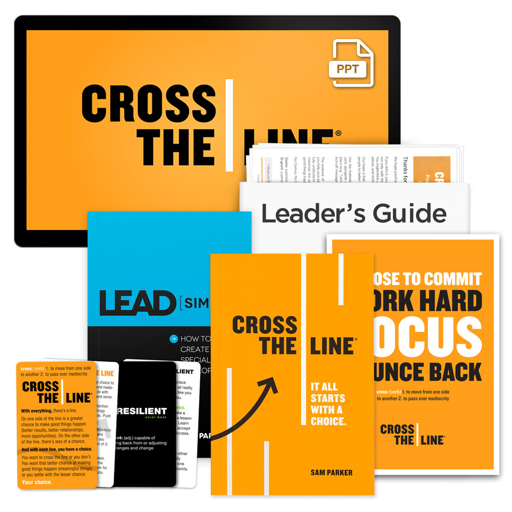 Cross The Line PowerPoint® Presentation Package