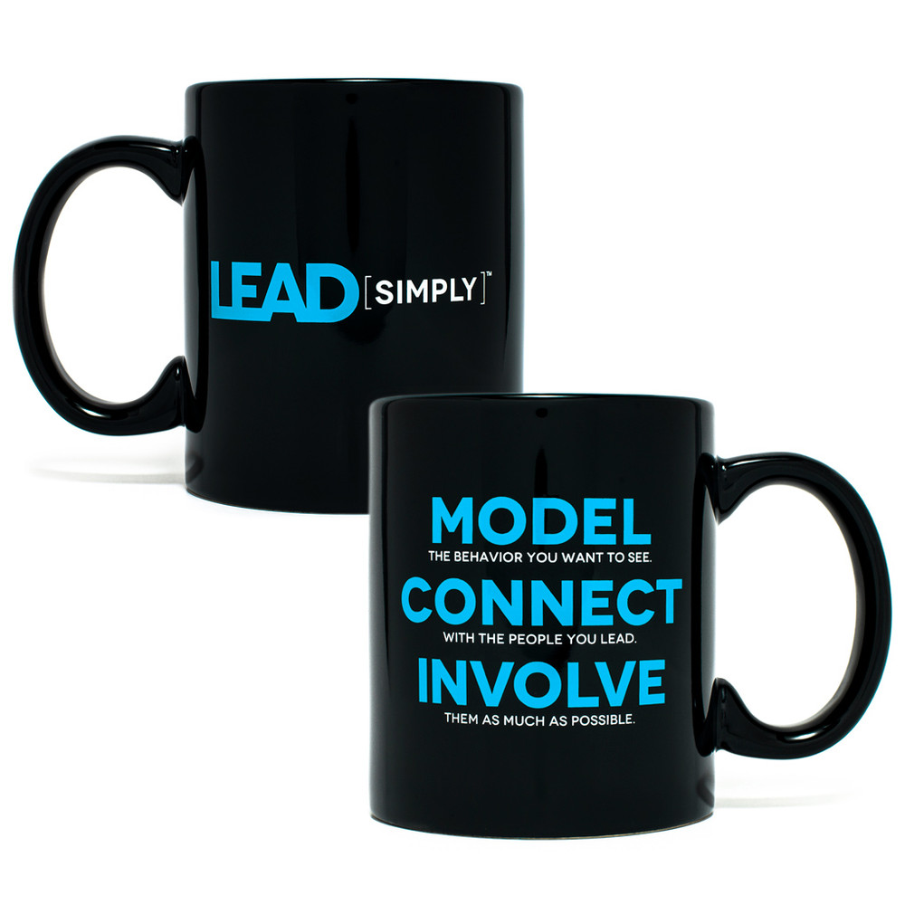 Lead Simply Mug (black - 11 oz)