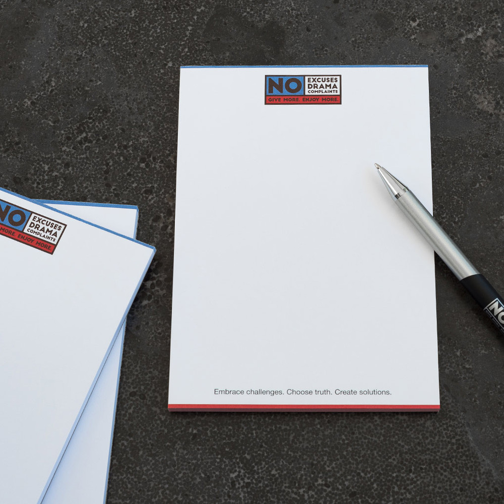 No Excuses, Drama, Complaints Notepads (3 pack)