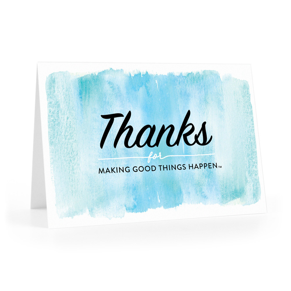 Thanks For Making Good Things Happen Cards (watercolor)