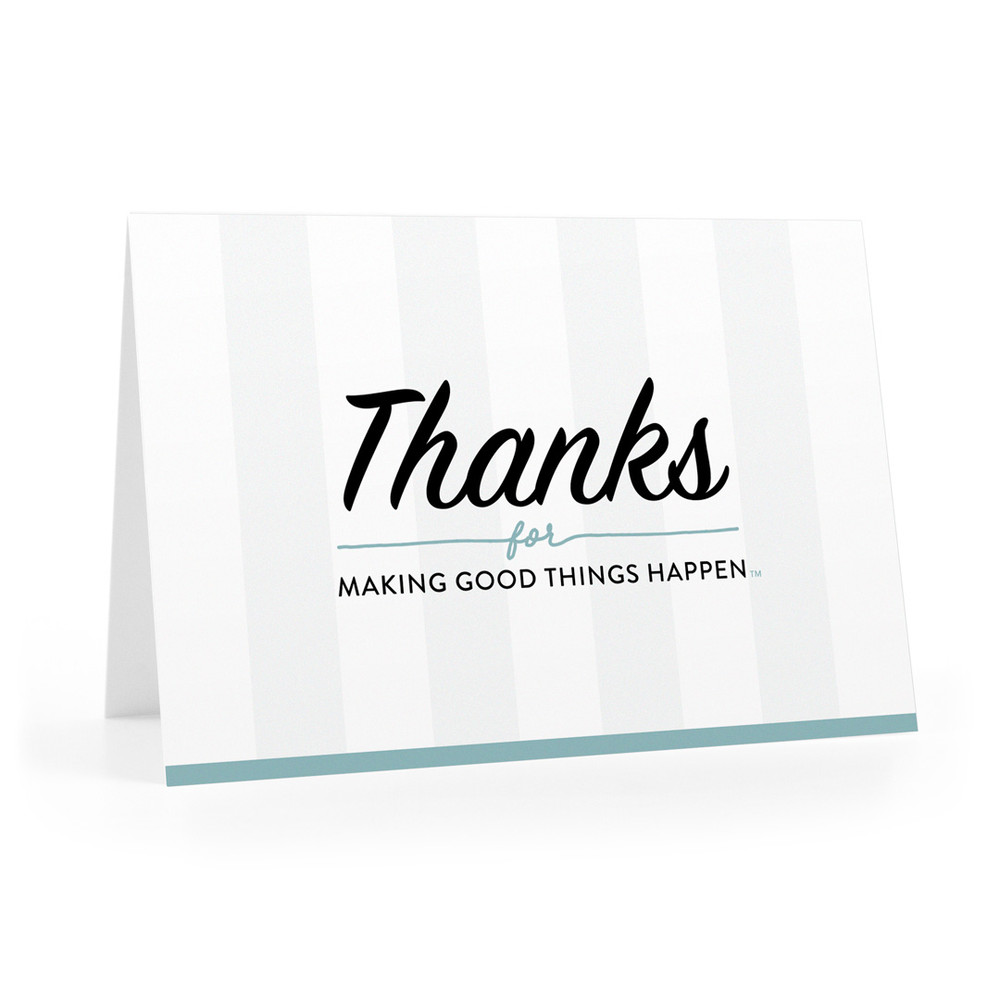 Thanks For Making Good Things Happen Cards (stripes)