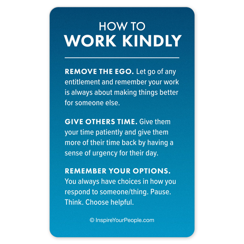 Work Kindly Pocket Cards (10 pack) - blue