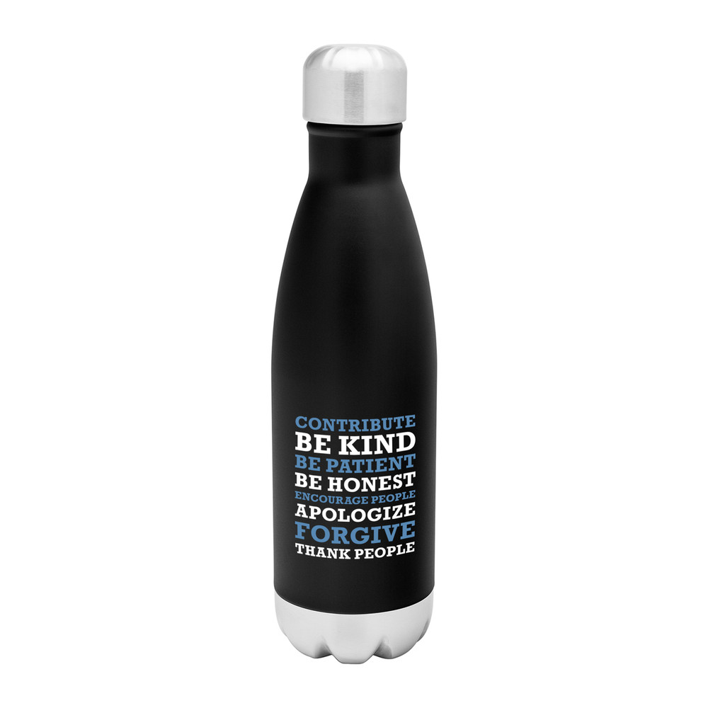 Love Your People Stainless Steel Bottle (17oz  Black Matte)
