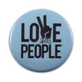 Love Your People Button - blue