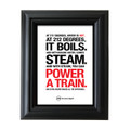 212° Block Point 5 in. x 7 in. Framed Print (white)