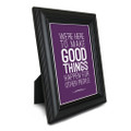 Make Good Things Happen 5 in. x 7 in. Framed Print (purple)