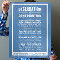 Declaration of Contribution 18 in. x 24 in. Poster (blue)