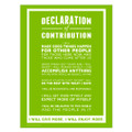 Declaration of Contribution 18 in. x 24 in. Poster (green)