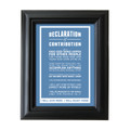 Declaration of Contribution 5 in. x 7 in. Framed Print (blue)