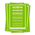 Declaration of Contribution 5 in. x 7 in. Prints - green