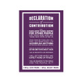 Declaration of Contribution 5 in. x 7 in. Prints - purple