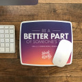 Work Kindly Mouse Pad (white border)