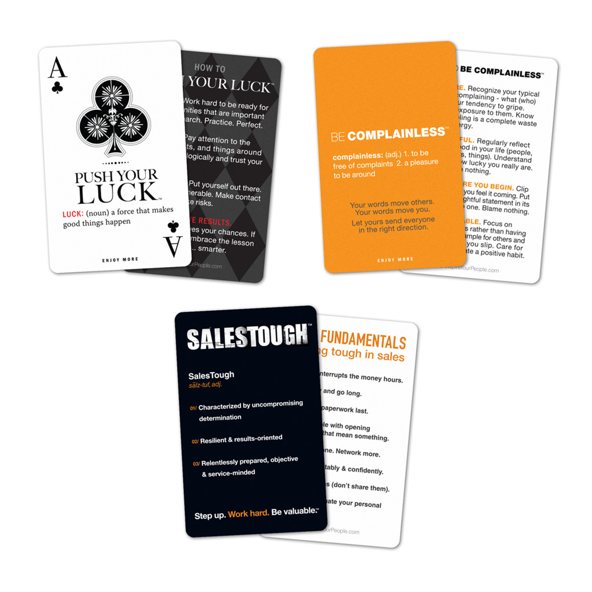 personal pocket card collection with salestough