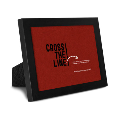 Cross The Line 5x7 Framed Print (red) - Original Version