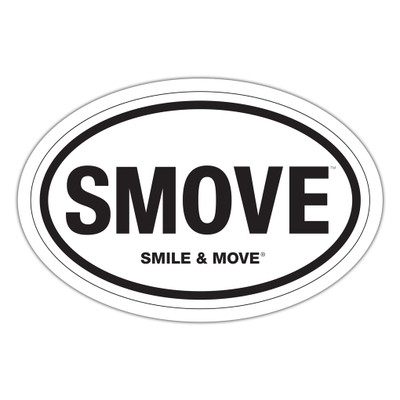 Smile & Move Sticker - oval