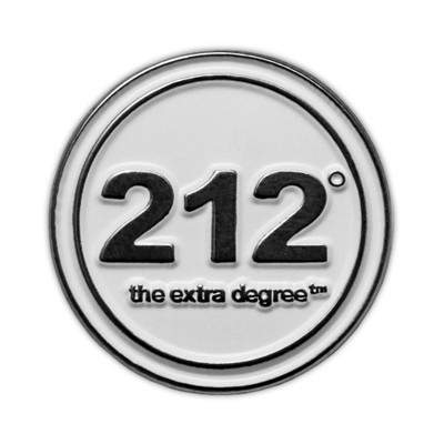212° Lapel Pin (white)
