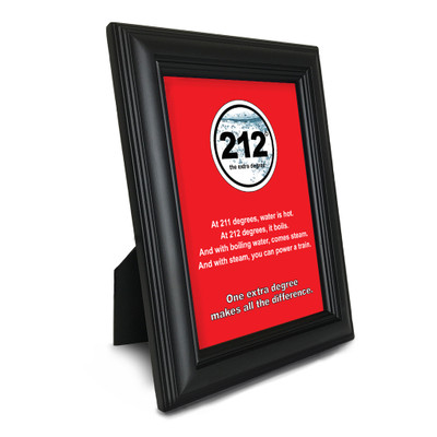 212° 5 in. x 7 in. Framed Print (red)