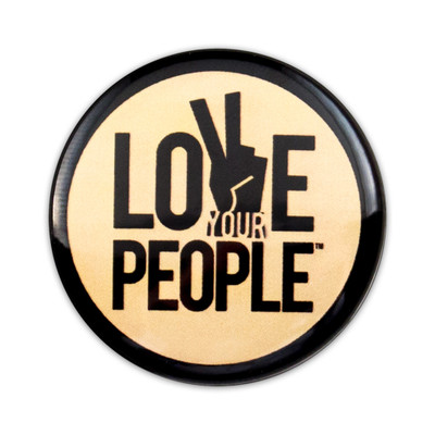 Love Your People Button - yellow