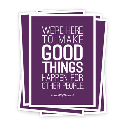 Make Good Things Happen 5 in. x 7 in. Prints - purple