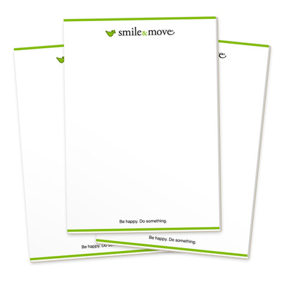 Smile & Move Notepads (3 pack)
