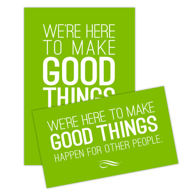 Make Good Things Happen Sticker Set - green