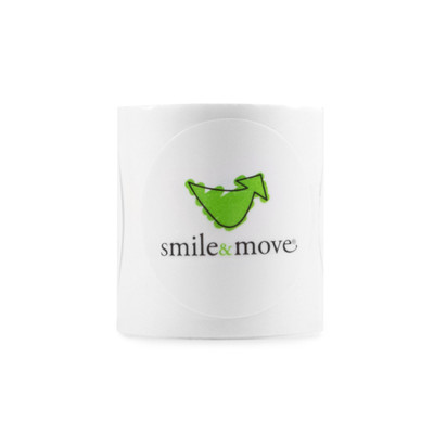 Smile & Move Roll of Stickers