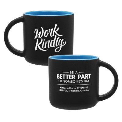 Work Kindly Mug (14 oz) - blue