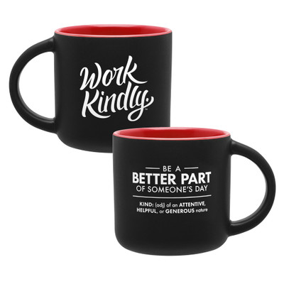 Work Kindly Mug (14 oz) - red