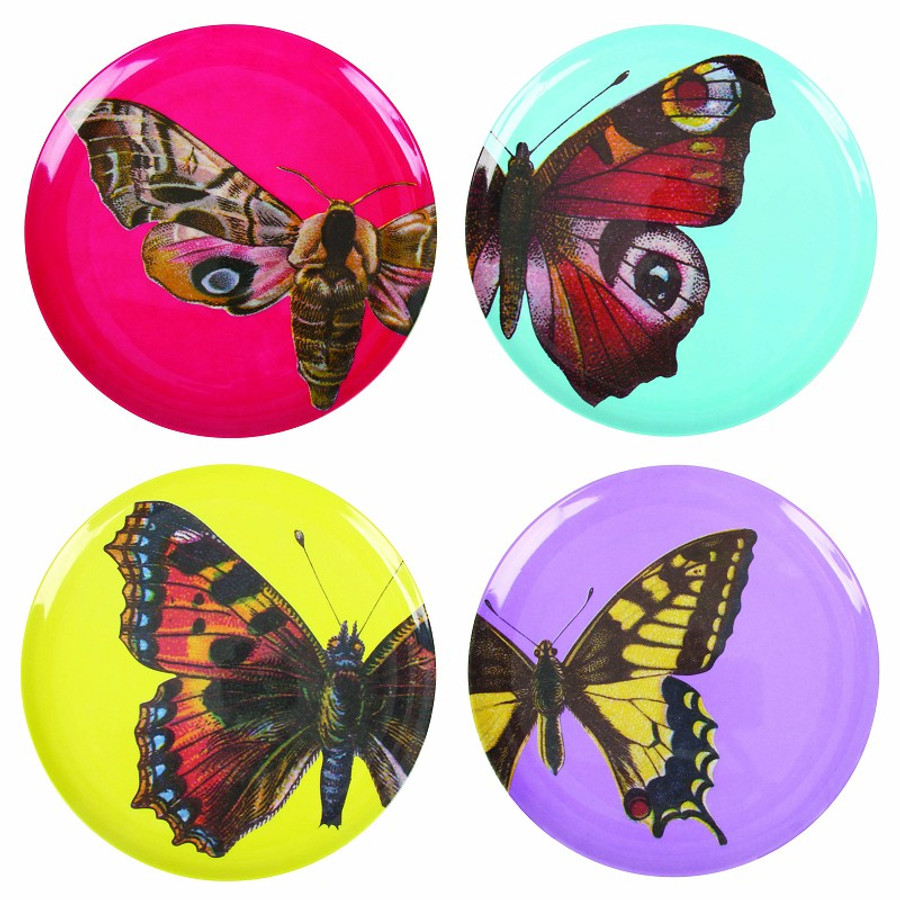 Melamine Butterfly Plates