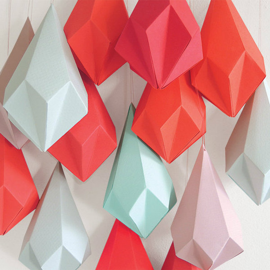 Wooden Origami Template, Crystal