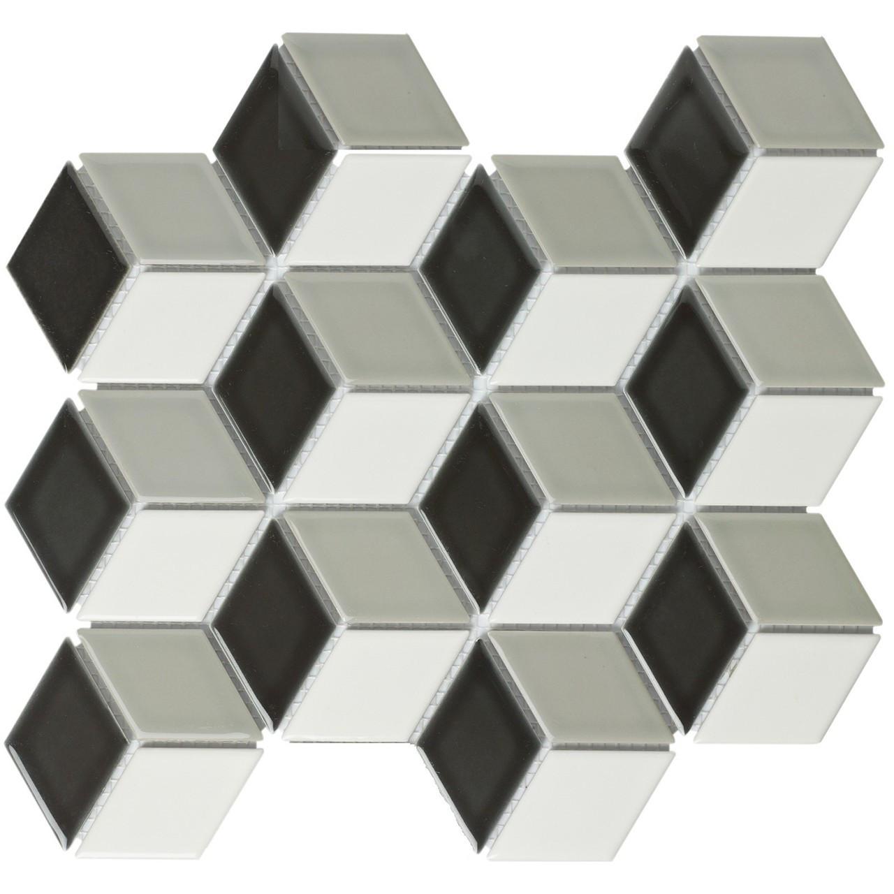 Glazed Porcelain Mosaic Tile Sheet Paris 1.9\