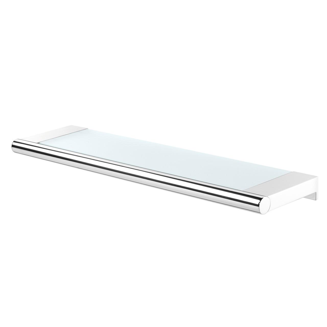 Glass Vanity Shelf Tiger Bold Chrome Metal