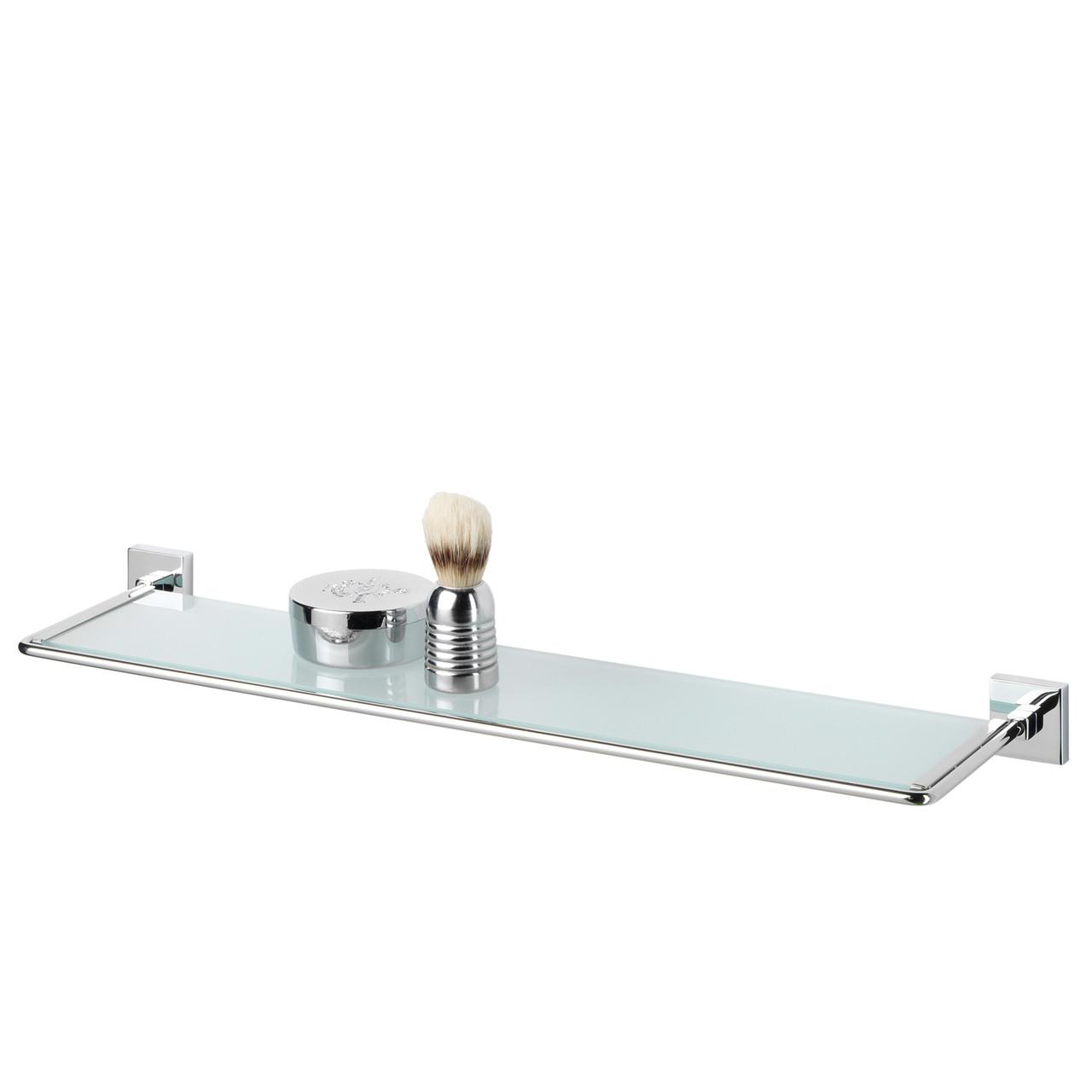 Glass Vanity Shelf Tiger Melbourne Polished Stainless Steel