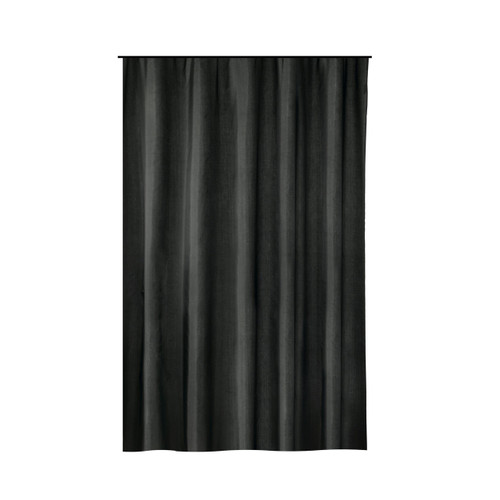 Extra Long Shower Curtain 72 X 78 Inch Gamma Black Fabric