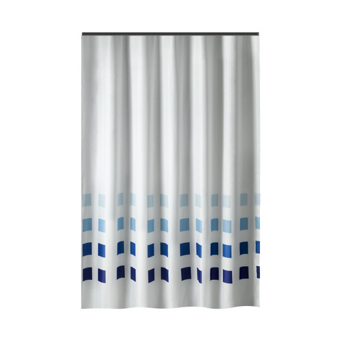 Extra Long Shower Curtain 72 x 78 Inch Gamma White With Brown ...