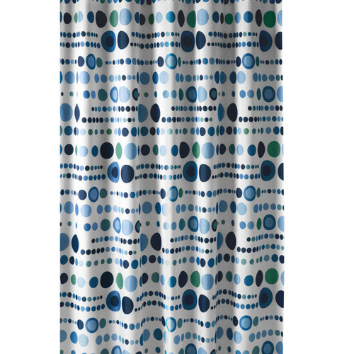 Extra Long Shower Curtain 72 x 78 Inch Gamma Polka Dot Blue Fabric