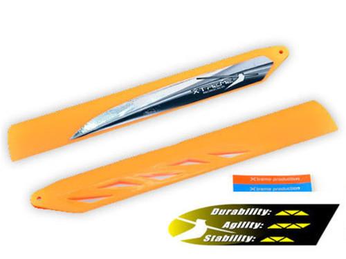 B130X16-O Xtreme Fast Response Main Blade Orange: BLADE 130 X