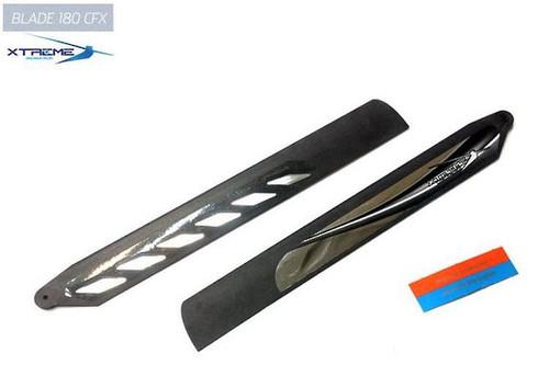 B180X09-K - Xtreme Carbon Polymer Main Blade Fast Respond: BLADE 180CFX
