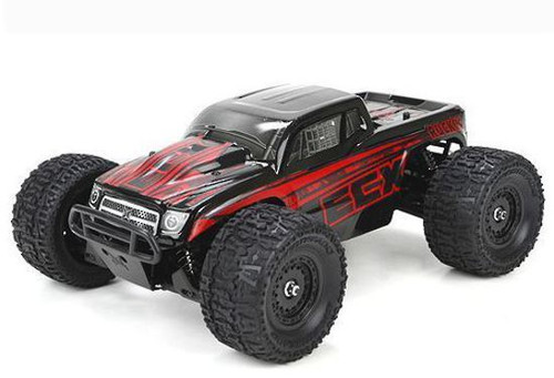 ECX Ruckus 1/18th 4WD RC Monster Truck RTR: Red/Black with 2Amp Charger - ECX01000T1