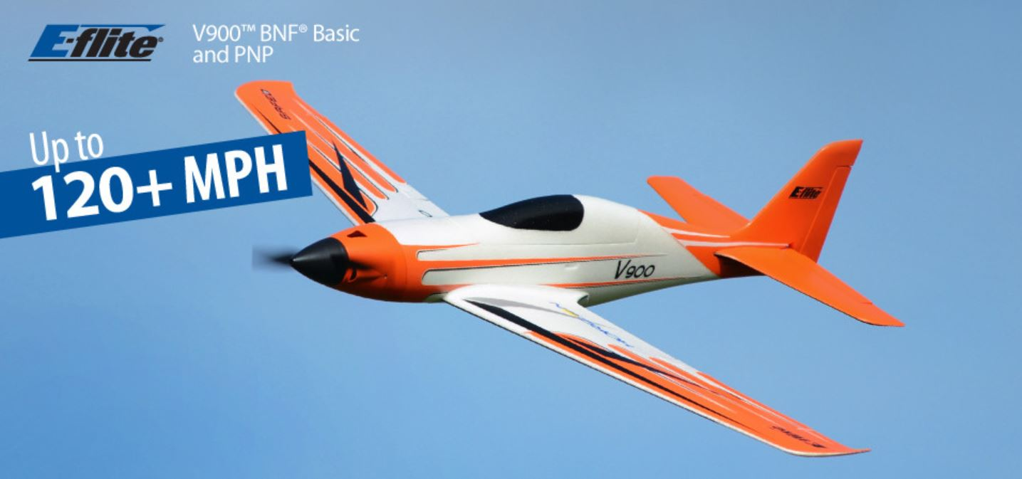 E-Flite EFL7450 V900 BNF RC Plane with Safe Select