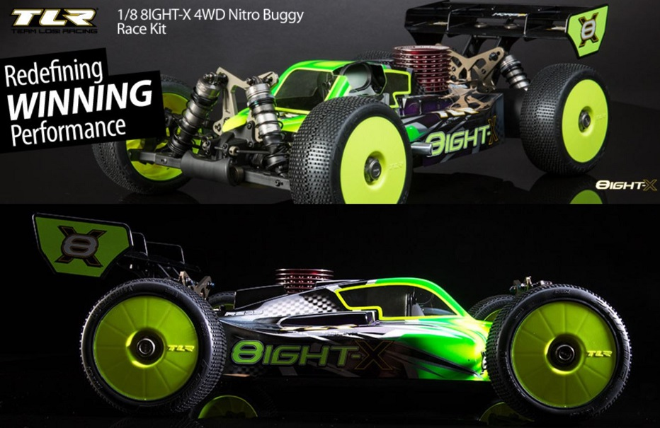 Team Losi TLR04007 1/8 8IGHT-X 4WD Nitro RC Buggy Race Kit