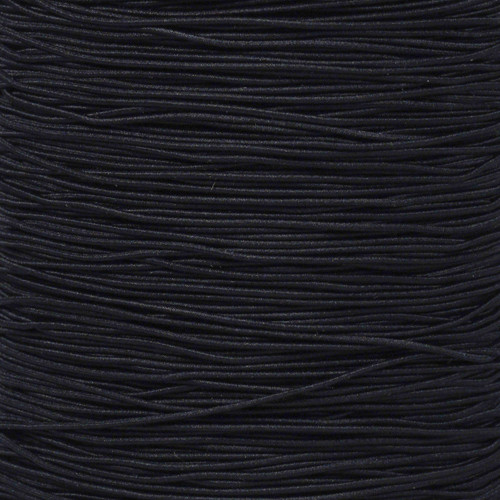 Black - 1/32 Elastic Cord