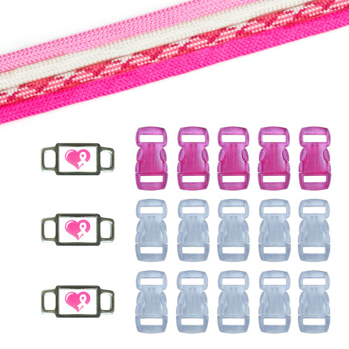 Breast Cancer Awareness Paracord Crafting Kit #10