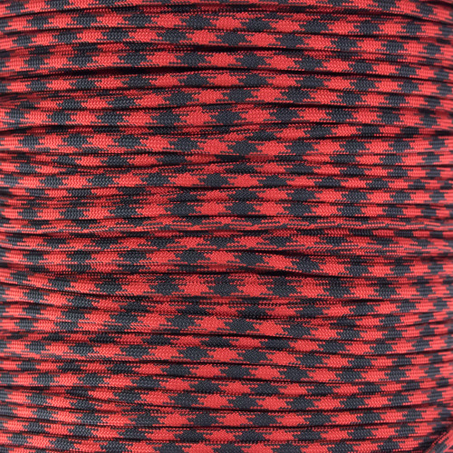 Imperial Red and Black - 550 Paracord