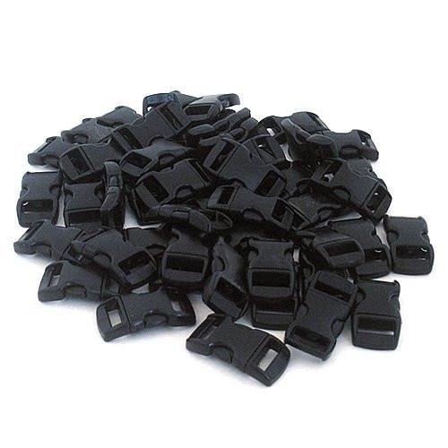 """Black 3/8"""" Buckles - 60 Pack"""