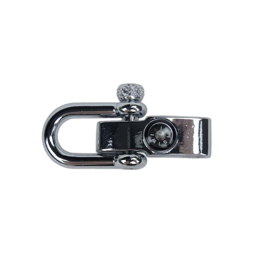 Adjustable Metal Shackle w/Embedded Compass - Silver
