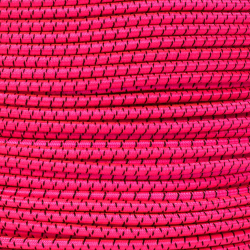 Neon Pink with Black X - 3/16 Shock Cord
