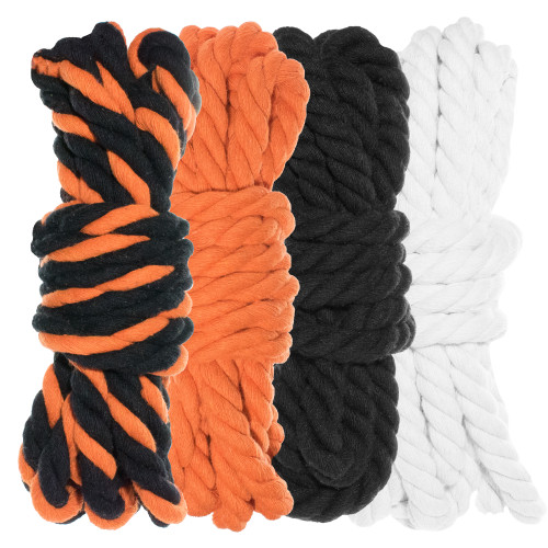 """1/4"""" Twisted Cotton Rope Kit - Jack O'Lantern"""