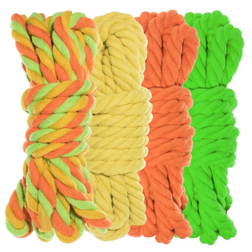 """1/4"""" Twisted Cotton Rope Kit - Sour Patch"""