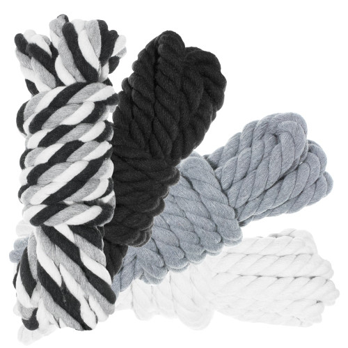 """1/2"""" Twisted Cotton Rope 40' Kit - Grayscale"""